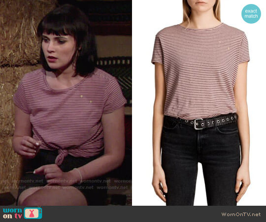 All Saints Anja Tee worn by Cait Fairbanks on The Young & the Restless