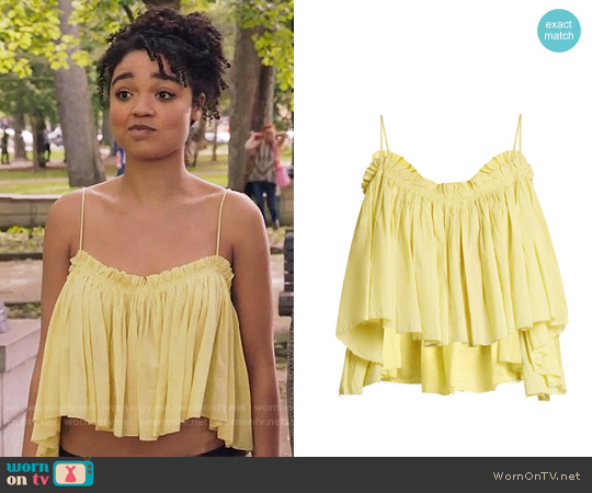 Apiece Apart Sanna Top worn by Aisha Dee on The Bold Type