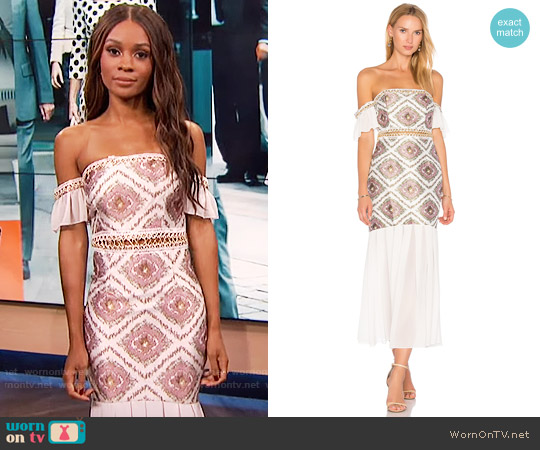 Asilio Classic Cause Dress worn by Zuri Hall  on E! News