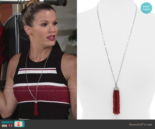 Baublebar Cabaret Tassel Pendant Necklace worn by Chelsea Lawson on The Young & the Restless