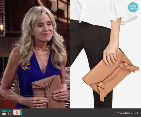 Bcbgmaxazria Nicoletta Clutch worn by Tamara Clatterbuck on The Young & the Restless