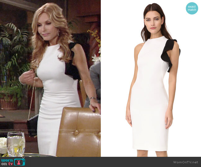 Black Halo Pabla Sheath worn by Tracey Bregman on The Young & the Restless