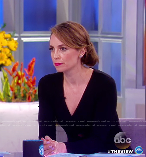 Jedediah's black cutout dress on The View