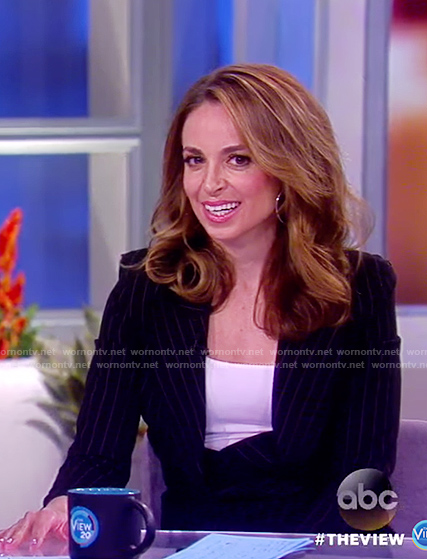 Jedediah's black pinstripe blazer on The View