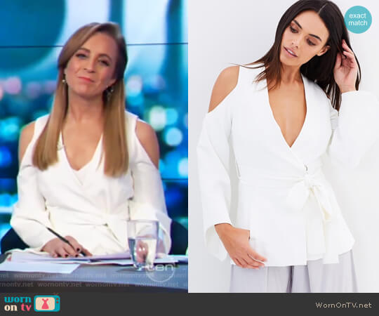 Eliya Jacket by Blessed are the Meek worn by Carrie Bickmore on The Project