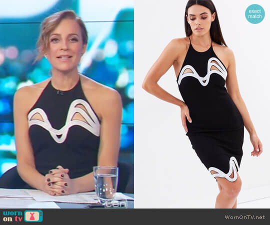 Anja Dress by Blessed are the Meek worn by Carrie Bickmore on The Project