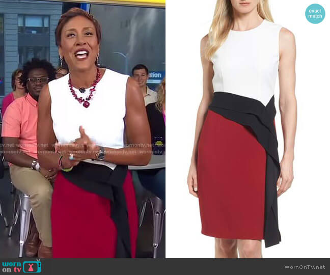 'Disalana' Color-Block Dress by Boss worn by Robin Roberts on Good Morning America
