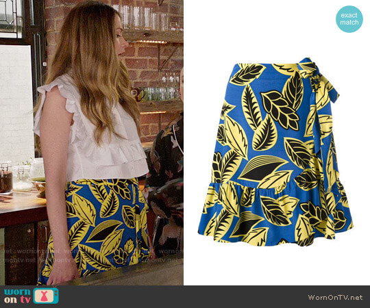 Boutique Moschino Bow Tie Wrap Skirt worn by Sutton Foster on Younger