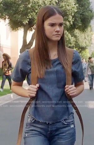 Callie's denim top on The Fosters
