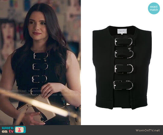 Carven Buckled Crop Top worn by Katie Stevens on The Bold Type