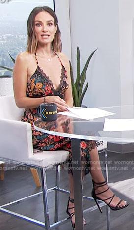 Catt's floral lace-trim midi jumpsuit on E! News Daily Pop