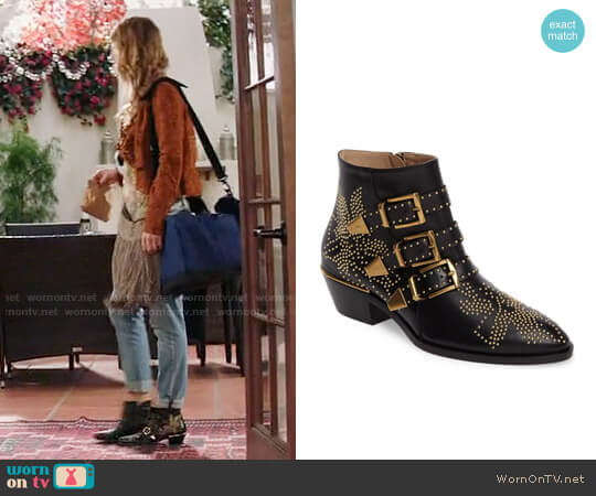 Chloe Susanna Stud Buckle Bootie worn by Phoebe Wells (Beau Garrett) on GG2D