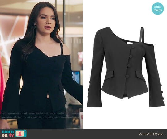 Cinq a Sept Peri Jacket worn by Katie Stevens on The Bold Type