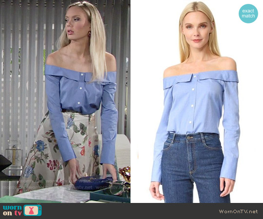 Club Monaco Jearim Top worn by Melissa Ordway on The Young & the Restless