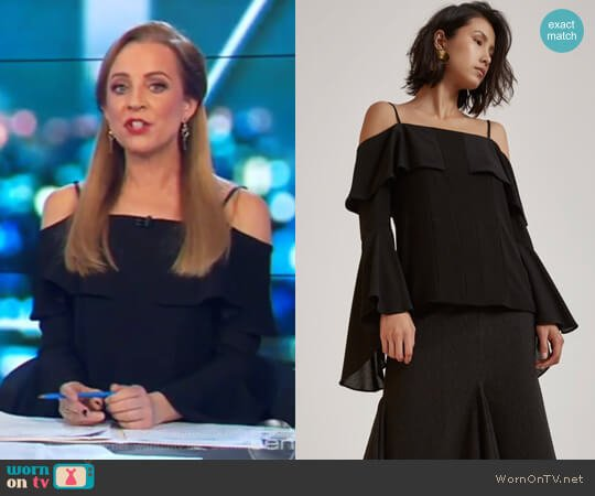Compose Long Sleeve Top by C/Meo Collective worn by Carrie Bickmore  on The Project