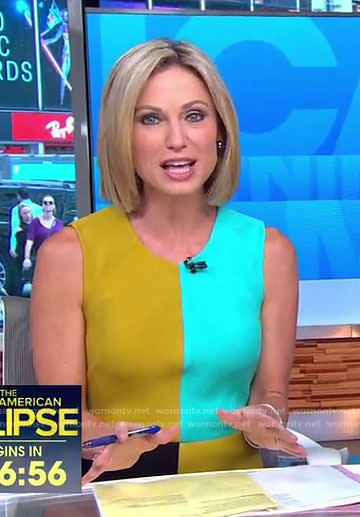 Amy's color-block shift dress on Good Morning America