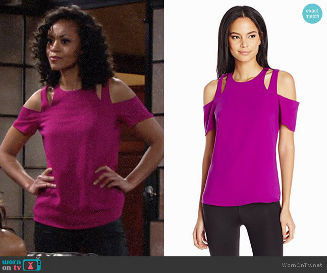 Cooper & Ella Padma Top worn by Hilary Curtis (Mishael Morgan) on The Young & the Restless