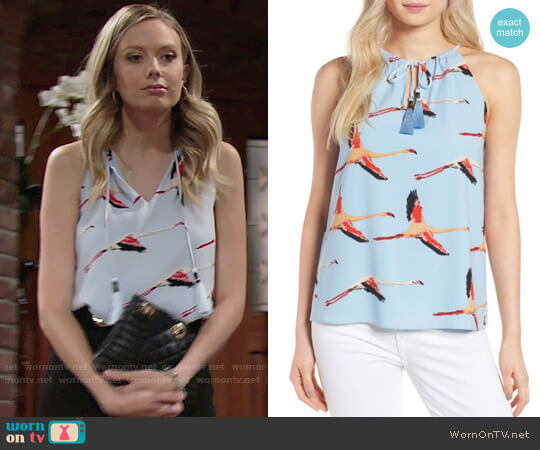 Cooper & Ella Pietra Top worn by Melissa Ordway on The Young & the Restless