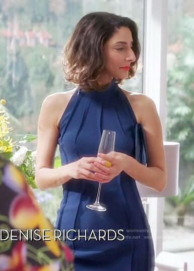 Delia's blue contour seam dress on Girlfriends Guide to Divorce