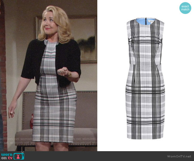 Diane von Furstenberg Sleeveless Tailored Dress worn by Melody Thomas-Scott on The Young & the Restless