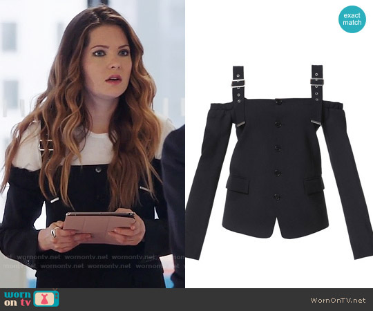 Diesel Black Gold Gerolamos Jacket worn by Sutton (Meghann Fahy) on The Bold Type