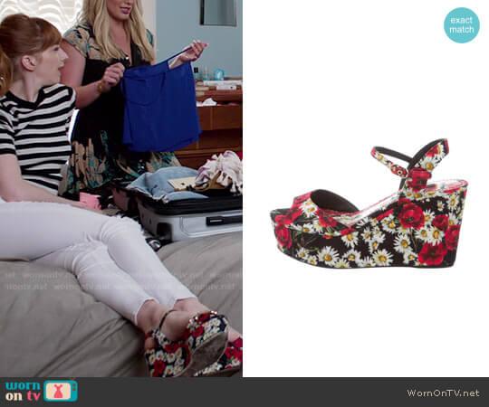 Dolce & Gabbana Poppy Platform Sandals worn by Lauren on Younger