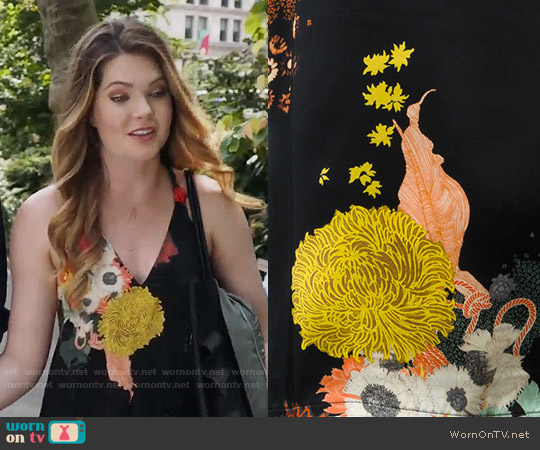 Dries van Noten Floral Maxi Dress worn by Meghann Fahy on The Bold Type