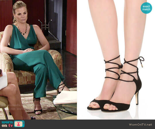 Diane von Furstenberg Rimini Sandals worn by Gina Tognoni on The Young & the Restless