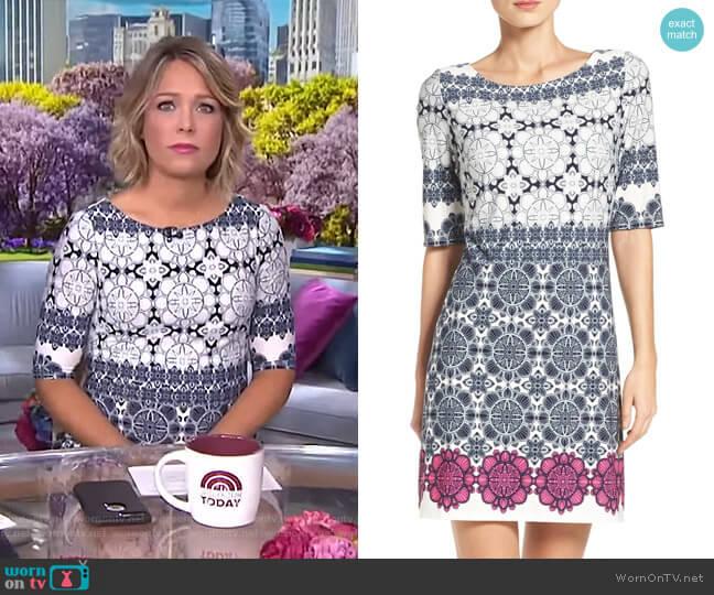 Medallion Print Shift Dress by Eliza J worn by Dylan Dreyer  on Today