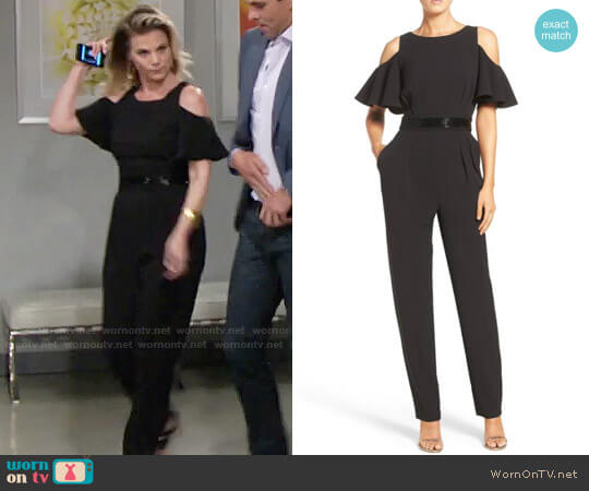 Eliza J Cold Shoulder Jumpsuit worn by Gina Tognoni on The Young & the Restless