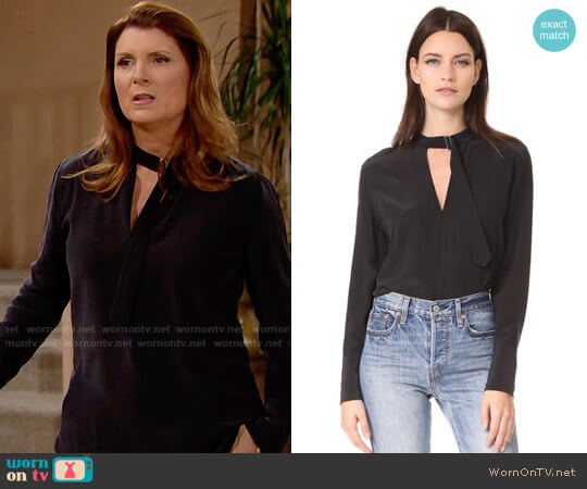 Equipment Janelle Top worn by Kimberlin Brown on The Bold & the Beautiful