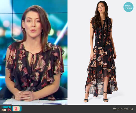 Lola Floral Maxi Dress by Forever New worn by Gorgi Coghlan on The Project