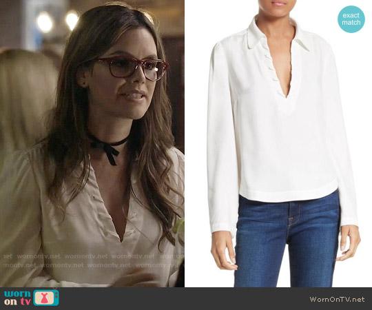 Frame Whipstitch Blouse worn by Rachel Bilson on Nashville