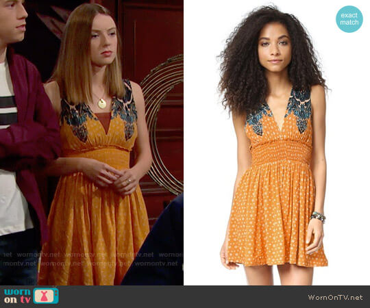 Free People Walking Through My Dreams Dress worn by Coco Spectra (Courtney Grosbeck) on The Bold & the Beautiful
