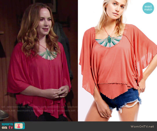 Free People Mayfair Tee worn by Camryn Grimes on The Young & the Restless