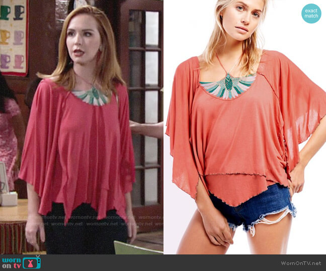 Free People Mayfair Tee worn by Mariah Copeland (Camryn Grimes) on The Young & the Restless