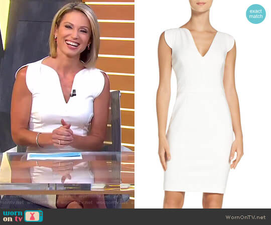 'Lolo' Stretch Sheath Dress by French Connection worn by Amy Robach on Good Morning America