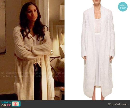 Gabriela Hearst Gunnersbury Cardigan worn by Rachel Zane (Meghan Markle) on Suits