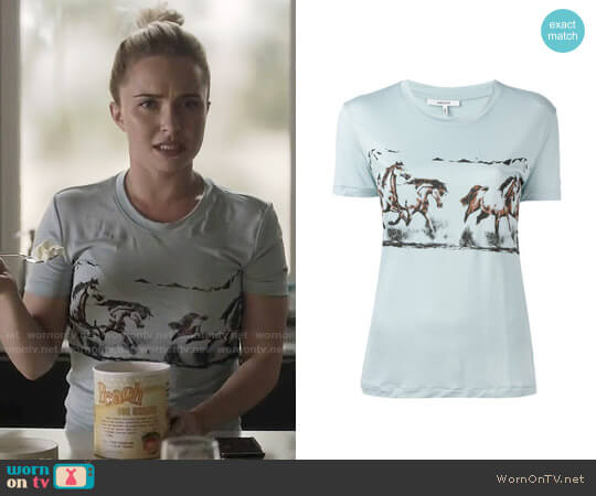 Ganni Horse Print T-shirt worn by Hayden Panettiere on Nashville