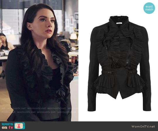 Givenchy Ruffled Taffeta Jacket worn by Katie Stevens on The Bold Type