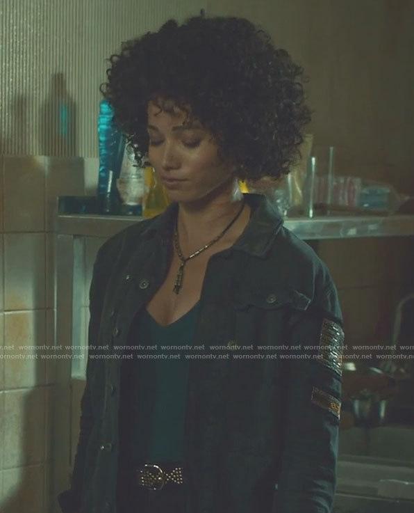 Maia's green military jacket on Shadowhunters