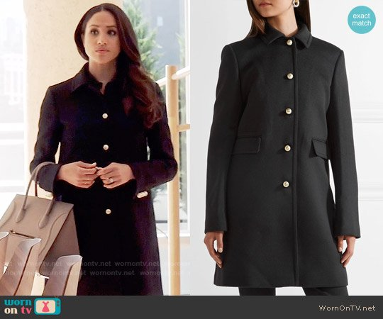 Gucci Wool Coat worn by Meghan Markle on Suits