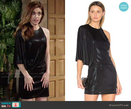 Halston Heritage Asymmetrical Draped Dress worn by Amelia Heinle on The Young & the Restless