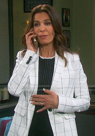 Hope's white checked blazer on Days of our Lives
