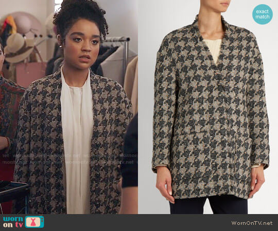 Isabel Marant Jameson Coat worn by Aisha Dee on The Bold Type