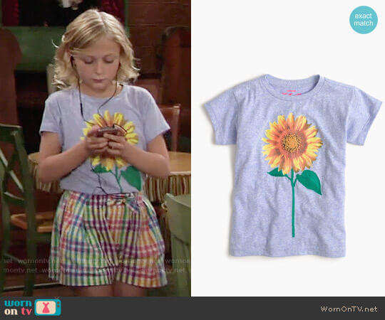 J. Crew Girls' Sunflower T-shirt worn by Alyvia Alyn Lind on The Young & the Restless