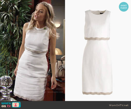 J. Crew Going Places Dress in Linen worn by Melissa Ordway on The Young & the Restless