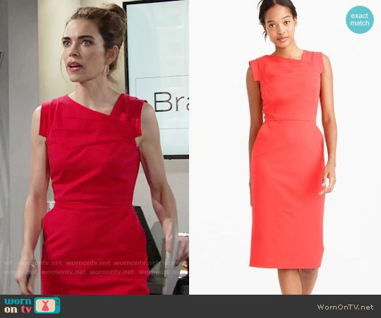 J. Crew Promotion Dress worn by Amelia Heinle on The Young & the Restless