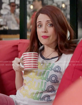 Jo's tequila graphic tee on Girlfriends Guide to Divorce