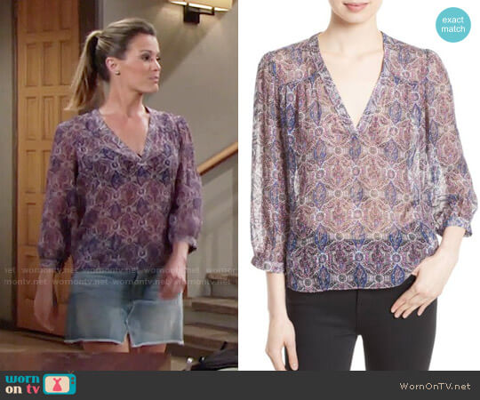 Joie Frazier Top worn by Melissa Claire Egan on The Young & the Restless